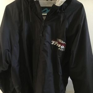 MensTRi MT black Jacket with hood